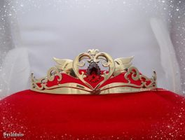 'Neo Queen Serenity' crown with pear shape zircon by seralune