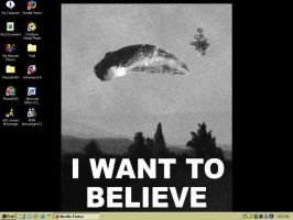 I Want to Believe - Desktop by eggujessu