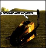 ClapTrap hates mondays by Dragoshi1