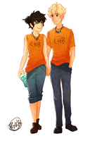 Rule 63 Percabeth by TheGingerMenace123