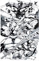 TMNT inked page by Madureira by fragcomics