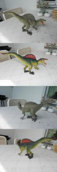 Spinosaurus Before and After by YikYik