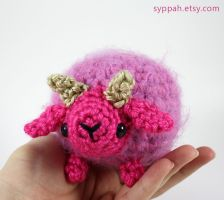 Fluffy Pink Sheep by syppahscutecreations