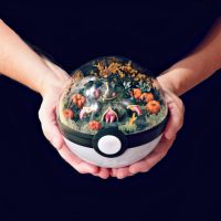 Poke Ball Terrarium - Banette by TheVintageRealm