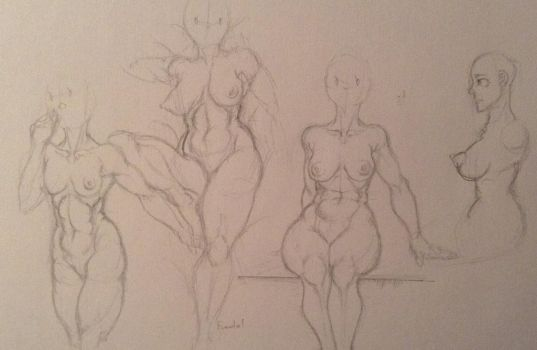 Part one of experimenting with bodies by Chiusan