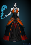 Morbid Halloween dress - gift by FunkyBacon