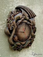 Ouroboros wall clock 03 by Ljotunnr