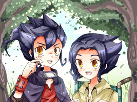 INA11 - Tsurugi Siblings by peachmomo