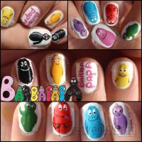 Barbapapa nails by Ninails