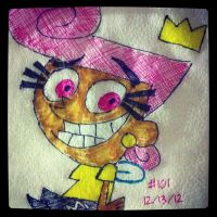Napkin Art 101 - Wands n Wings - Fairly OddParents by PeterParkerPA