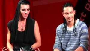 Bill testing Toms' mic GIF by Sirilla-Love-Bill