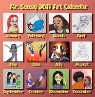 Mr. Semaj 2011 Art Calendar by Yeldarb86