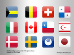 Iphone Flag Icons by Silentrage1