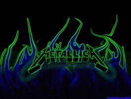 MetallicA --- Neon Flames by OmegaReaper