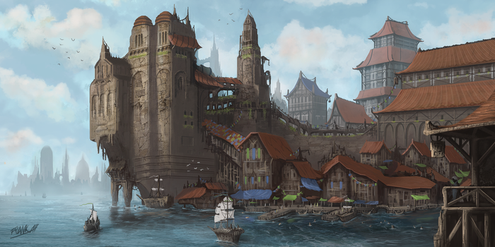 Docks Of Valura by FrankAtt