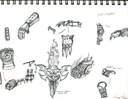 Fist Weapons by Wolvanart