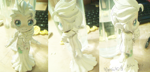 Polymer Clay wip Elsa from Frozen by omoiiki