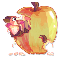 Giant apple by griffsnuff