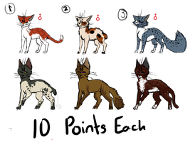 10 POINT ADOPTS by FrostySheeps