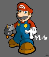 Super Mario by grimcinder