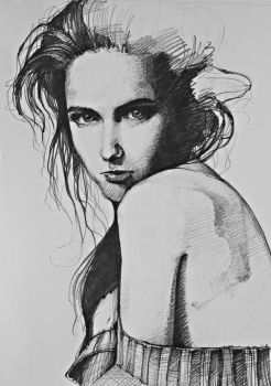 drawing portret by BdelaG