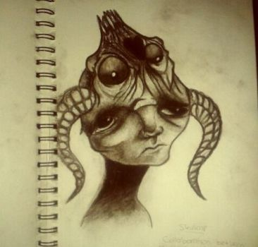 Charcoal version of SkullCap by mdmamy