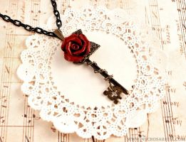 Rosarium Key Necklace by Necrosarium