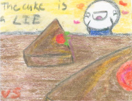 The Cake is a LIE by bunnyX123