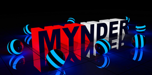 3D name for MYNDER by tiberius121212