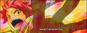 Natsu Dragneel V.1 Signature Banner By Me by Laurello7