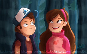 Dipper and Mabel 07-09-2014 by Luciand29