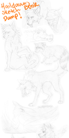 Sketch dump NOT ONLY WOLVES 2 by HailDawn