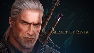 The Witcher Adventure game art Geralt by Scratcherpen