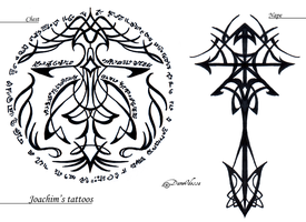 Concept - Joachim's tattoos by DameOdessa