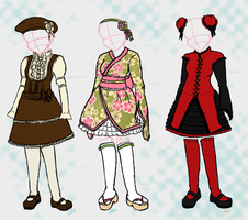 Three Lolita Styles by yammyqueen