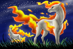 The Ponyta Family by Zerochan923600