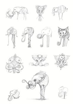 Elliphant Sketches by Simanion