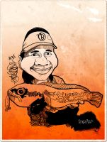 Caricature of Bacang by in2cr3ativ3
