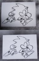 Sonic Stencil x2 by scorch87