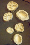 Paw Pad Molds (for sale) by AcrotomicStudios