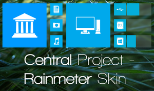 'Central' Rainmeter Project by phantomghost1525