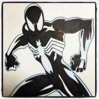 INKtober 14 Black Suit Spider-Man by BigDogsStudio