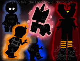 My top five fav Lego characters by GNGTNT105