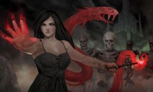 Black Witch and Army of Dead by rickyryan