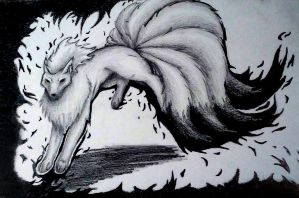 Ninetails by wolfsmoon22