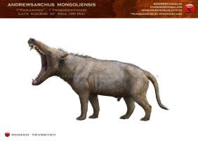 Andrewsarchus mongoliensis by RomanYevseyev