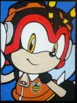 Charmy Bee painting by TheScarecrowOfNorway