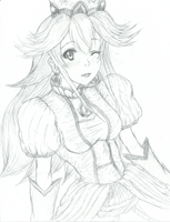 Princess Peach - Fanart Sketch by EmBeRNaGa