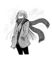 long hair long scarf by nawafiai
