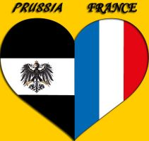 Heart Flag ~ Prussia and France by Mizu1993